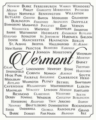 Vermont Poster by Finlay McNevin