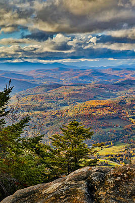 Vermont Foliage From Mt. Ascutney Poster