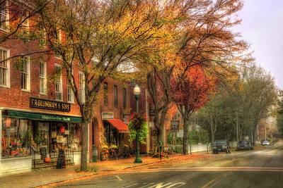 Vermont General Store In Autumn - Woodstock Vt Poster by Joann Vitali