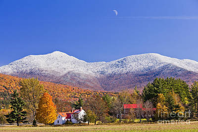 Vermont October Moonrise Poster