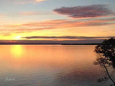 Poster featuring the photograph Vermont Sunset, Lake Champlain by Felipe Adan Lerma