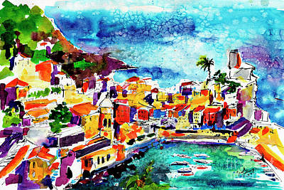 Vernazza Cinque Terre Italy Poster by Ginette Callaway