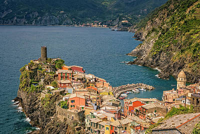 Vernazza Cinque Terre Italy Poster by Joan Carroll