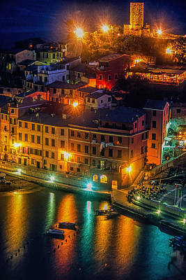 Vernazza Evening Poster by Andrew Soundarajan