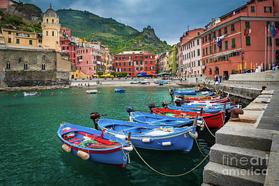 Vernazza Harbor Poster