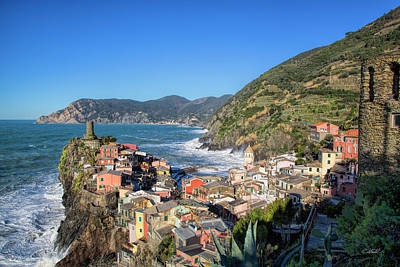 Poster featuring the photograph Vernazza In Cinque Terre by Cheryl Strahl