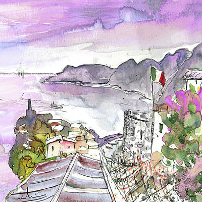 Vernazza In Italy 03 Poster by Miki De Goodaboom