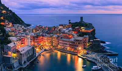 Vernazza Is One Of The Five Towns That Make Up The Cinque Terre  Poster by Henk Meijer Photography