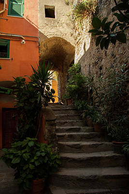Vernazza Stairway 1 Poster by Art Ferrier