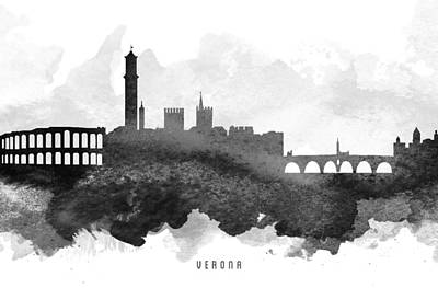 Verona Cityscape 11 Poster by Aged Pixel