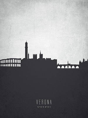 Verona Italy Cityscape 19 Poster by Aged Pixel