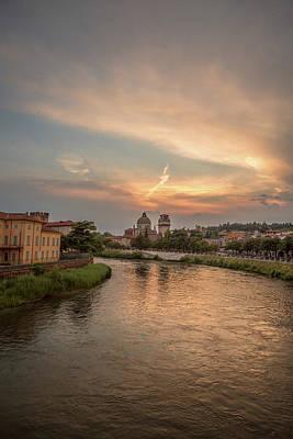 Verona Sunset Poster by Chris Fletcher