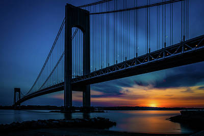 Poster featuring the photograph Verrazano Sunset by Chris Lord
