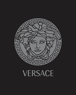 Versace - Black And Grey Poster