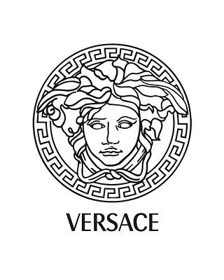 Versace - Black And White Poster