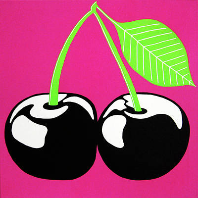 Very Cherry Poster by Oliver Johnston