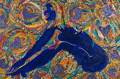 Poster featuring the tapestry - textile Vesica  Pisces by Apanaki Temitayo M