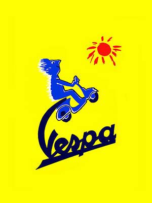 Vespa 1955 Poster by Mark Rogan
