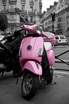 Vespa In Pink Poster