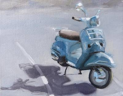 Vespa Shadows Poster