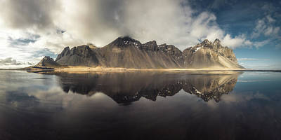 Vestrahorn Panorama Poster by Tor-Ivar Naess