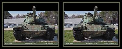 Vfw Tank - Gently Cross Your Eyes And Focus On The Middle Image Poster by Brian Wallace