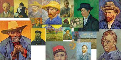 Poster featuring the painting Vibrance Of Van Gogh Mural IIl by David Bridburg