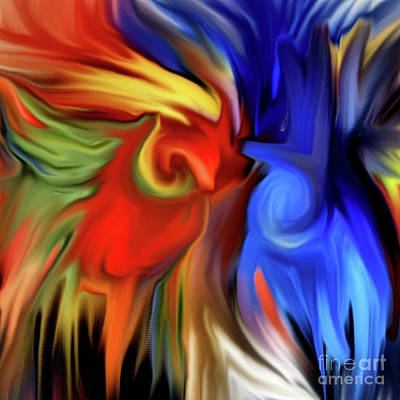 Vibrant Abstract Color Strokes Poster