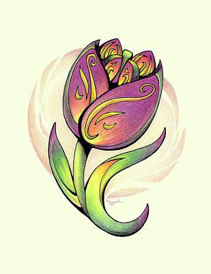 Vibrant Flower 5 Tulip Poster
