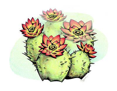 Vibrant Flower 6 Cactus Poster
