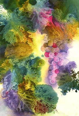 Vibrant Grapes Poster by Gladys Folkers