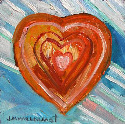 Poster featuring the painting Vibrant Heart by John Williams
