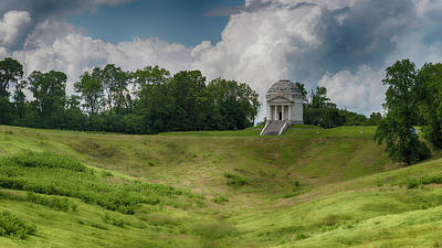Vicksburg National Military Park - Illinois Memorial Poster by Stephen Stookey