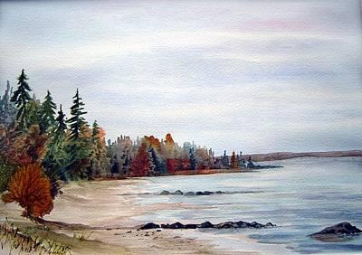 Victoria Beach In Manitoba Poster