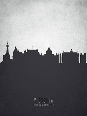 Victoria British Columbia Cityscape 19 Poster by Aged Pixel