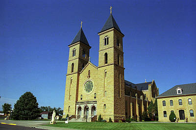 Poster featuring the photograph Victoria, Kansas - Cathedral Of The Plains 6 by Frank Romeo