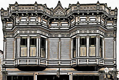 Victorian Architecture Details Poster by Edward Fielding