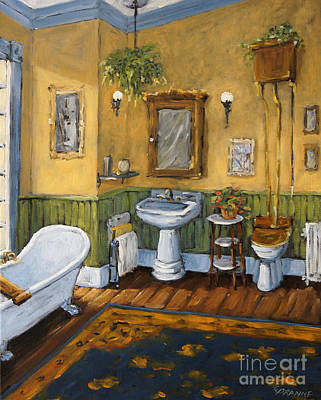 Victorian Bathroom By Prankearts Poster by Richard T Pranke