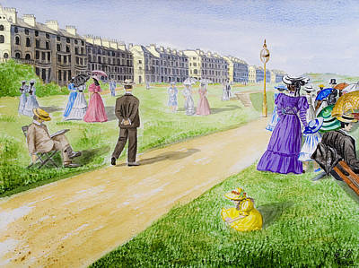 Victorian Filey Poster by Svetlana Sewell