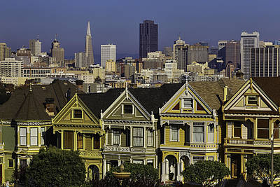Victorian House In San Francisco Poster