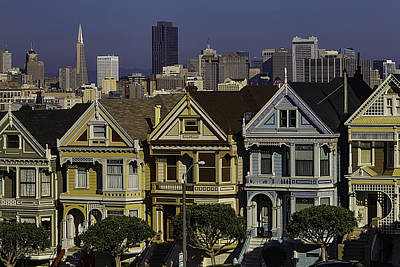 Victorian Painted Ladies Poster by Garry Gay