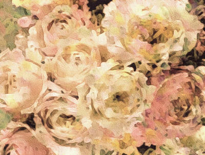 Victorian Rose Blossoms Poster