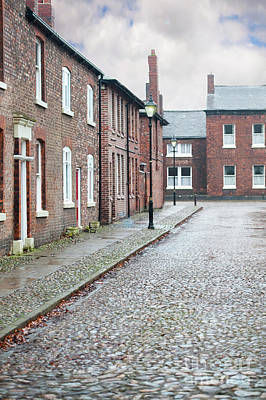 Victorian Terraced Street Of Working Class Red Brick Houses Poster by Lee Avison