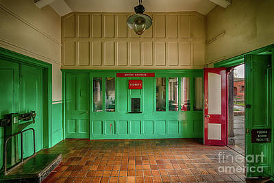 Victorian Ticket Office Poster by Adrian Evans