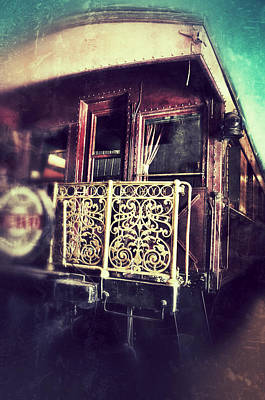 Victorian Train Car Poster by Jill Battaglia