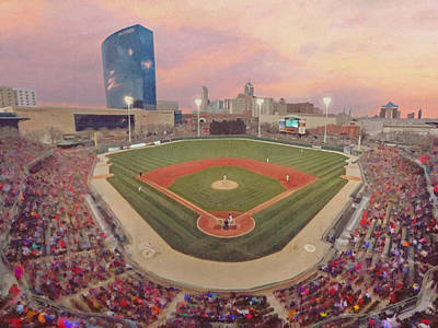 Victory Field Poster by Adam Rendaci