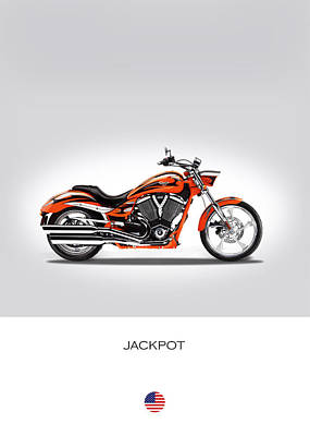 Victory Jackpot Poster by Mark Rogan