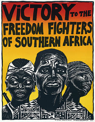 Victory To The Freedom Fighters Of South Africa C. 1977 Poster