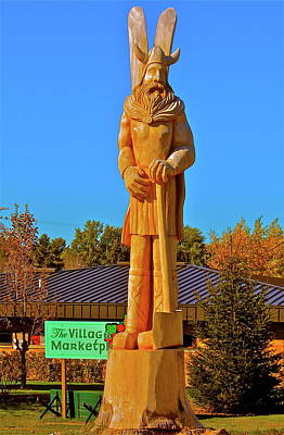 Poster featuring the photograph Vidar The Viking by Randy Rosenberger