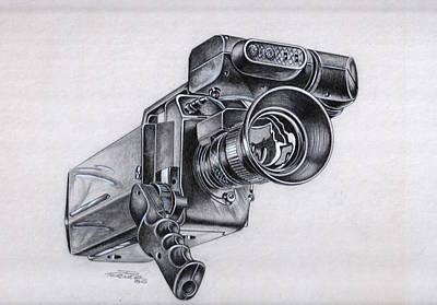 Video Camera, Vintage Poster